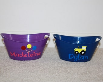 Personalized Mini Bin to fill with Favors - Great Party Favor