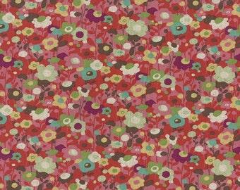 Avant-Garden Texture Linen Cotton Red by MoMo for Moda, 16126-12L