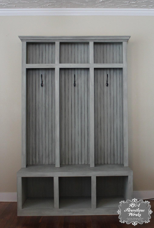 Foyer Mudroom Review : Entryway mudroom locker bench lockers