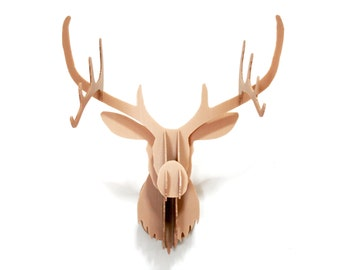 DIY Stag Head Wall Mount