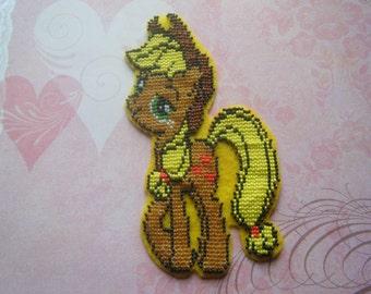 Beaded My Little Pony Patch - Applejack