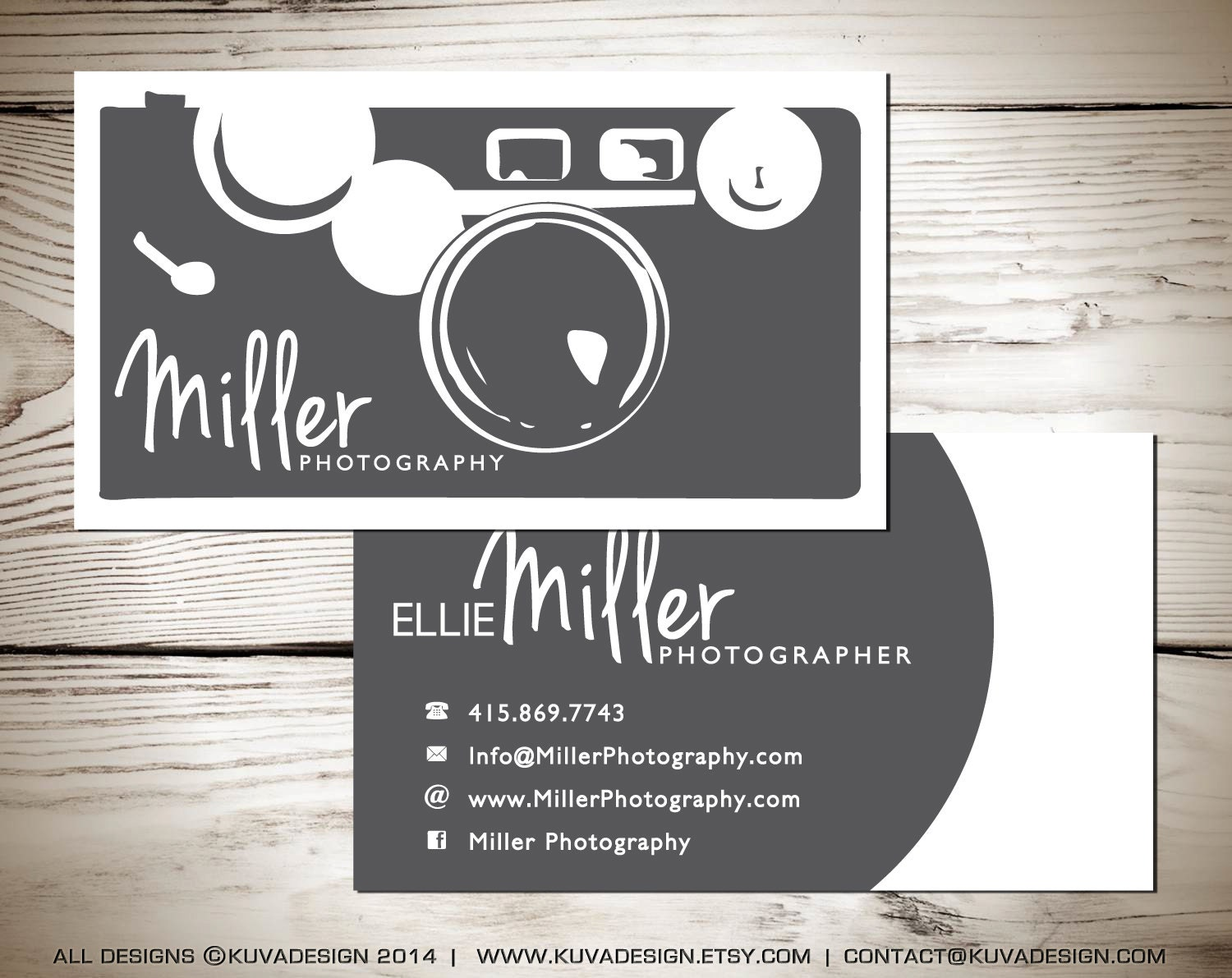 Photography business card design by kuvadesign on etsy for Best business cards for photographers