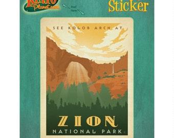 Zion National Park Utah Vinyl Sticker - #47940