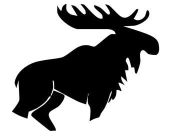 Moose Silhouette Etsy