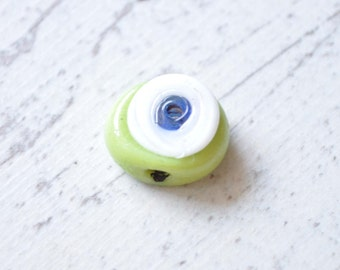 4 Pieces Handmade Evil Eye Glass Beads, Nazar Bead, Hamsa, Amulet, Jewelry Findings, Jewelry Supply