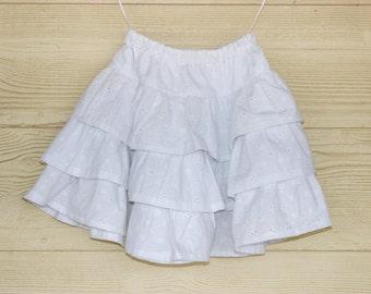 SEWING PATTERN, Girls Petticoat, Girls Ruffle Skirt, Girls Layered Ruffle Skirt, Girls Peasant Skirt, Girls Lace Skirt Pattern