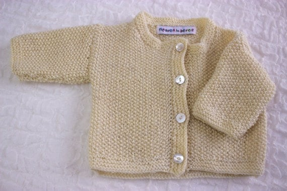 Knitting Essentials For Baby : Knitting pattern baby cardigan with button closure