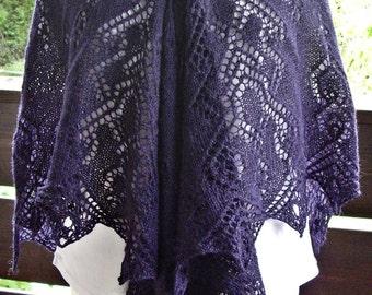 "Scarf / lace scarf ""Dark Violet"""