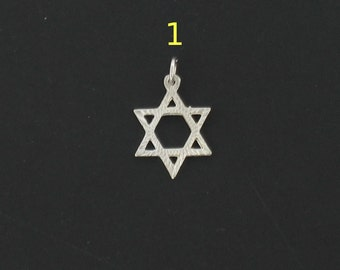 Judaica/Kabbala Silver Star of David (MAGEN DAVID) Pendant From HolyLand Jerusalem