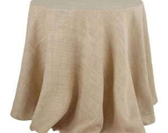 Round Burlap Tablecloth - 70""
