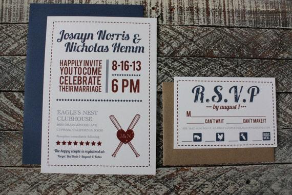 Baseball Wedding Invitation: All American Vintage Baseball Wedding By Youandmepaperie