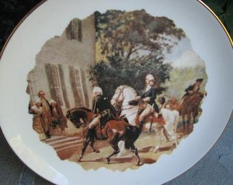 Vintage Collectors Plate - Washington and Rochambeau Plate