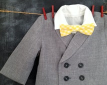 Ring Bearer Suit, Short Pants, Knickers, Long Pants, Lined Jacket, Single Breasted No Lapels, Double Breasted with Lapels, Sizes 2T-4T