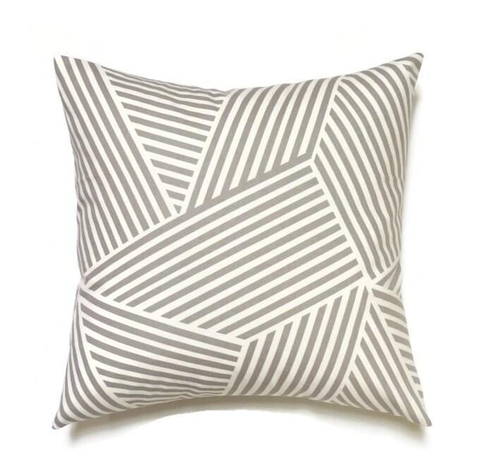 Grey Pillow 20x20 Pillow Cover Decorative Pillows Modern