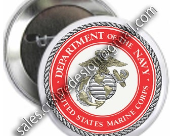 United States Marine button 2.25 INCH