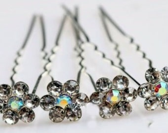 Set Of 2 Rhinestone Hairpins - Bridal Accessories