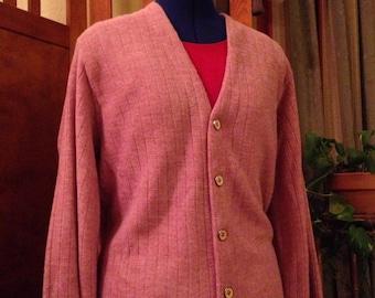 Fun Men's Light Pink Cardigan Sweater