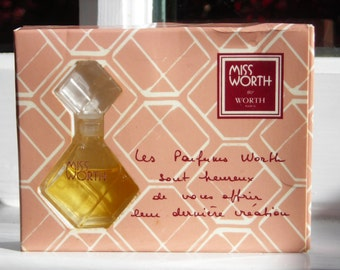 vintage Miss Worth by Worth mini perfume bottle with box