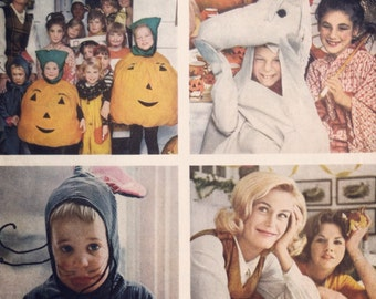 Awesome Fall/Halloween vintage ephemera, 1960's ad for Kodak film. Remember our FREE SHIPPING coupon code on ad purchases of 12.00 or more.