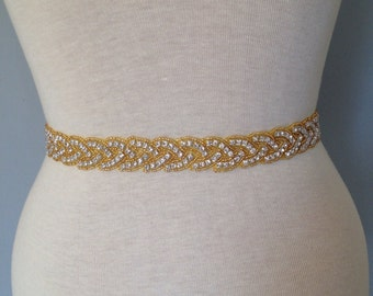 Gold all around Bridal belt wedding belt bridal sash wedding sash crystal sash wedding dress jeweled belt rhinestone sash rhinestone belt