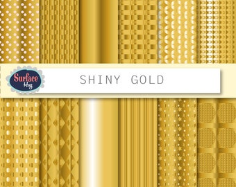 Gold digital paper, Gold paper, Gold background, Digital paper gold, Gold texture, Digital scrapbooking, Metallic gold, Gold foil paper