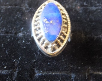 Lapis Lazuli and Sterling Silver Ring Size 6