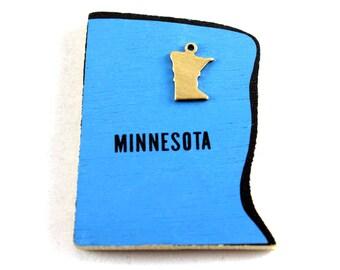 6x Brass Blank Minnesota State Charms - M073-MN