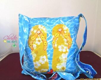 Yellow Buttercup Flip Flop Bag