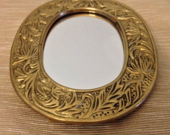 Vintage brass Crowning Touch mirror