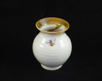 Vase with Single Bee and Trim