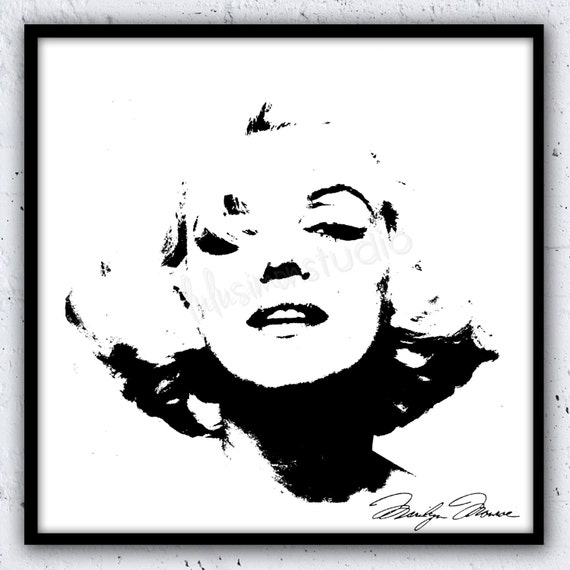 marilyn monroe print wall decor home decor by lulusimonstudio marilyn monroe home decorations trend home design and decor
