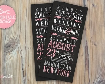 DIY, Printable Save the Date