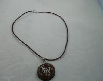 Root Beer Bottle Cap Necklace