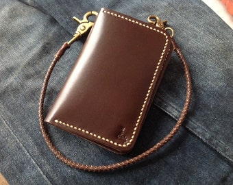Leather Wallet Indy Duo medium (Brown)