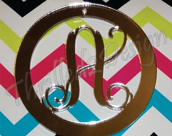 4 inch Customized Acrylic Ornament Single Letter Monogram - Initial, Christmas Ornament