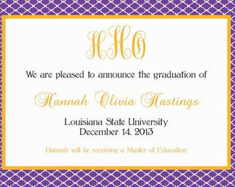 LSU Graduation Announcements