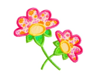 "JACOBEAN FLOWER  Applique Machine Embroidery Design Pattern in 3 sizes 4"", 5"" and 6"""