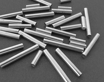Sterling Silver tubes 15mm [10pcs]