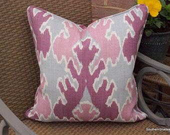 One or Both Sides - ONE Kelly Wearstler Bengal Bazaar Magenta Pillow Cover with Seam Cording