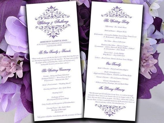 free download wedding program template