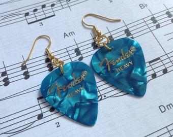 Fender Aqua Guitar Pick Earrings
