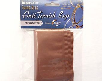 Anti Tarnish Bags, Jewelry Protection, 4x4 Inch Bags, Gold Silver, Brass Copper, Corrosion Protection, No Tarnish, Zip Lock Bags, UK Seller