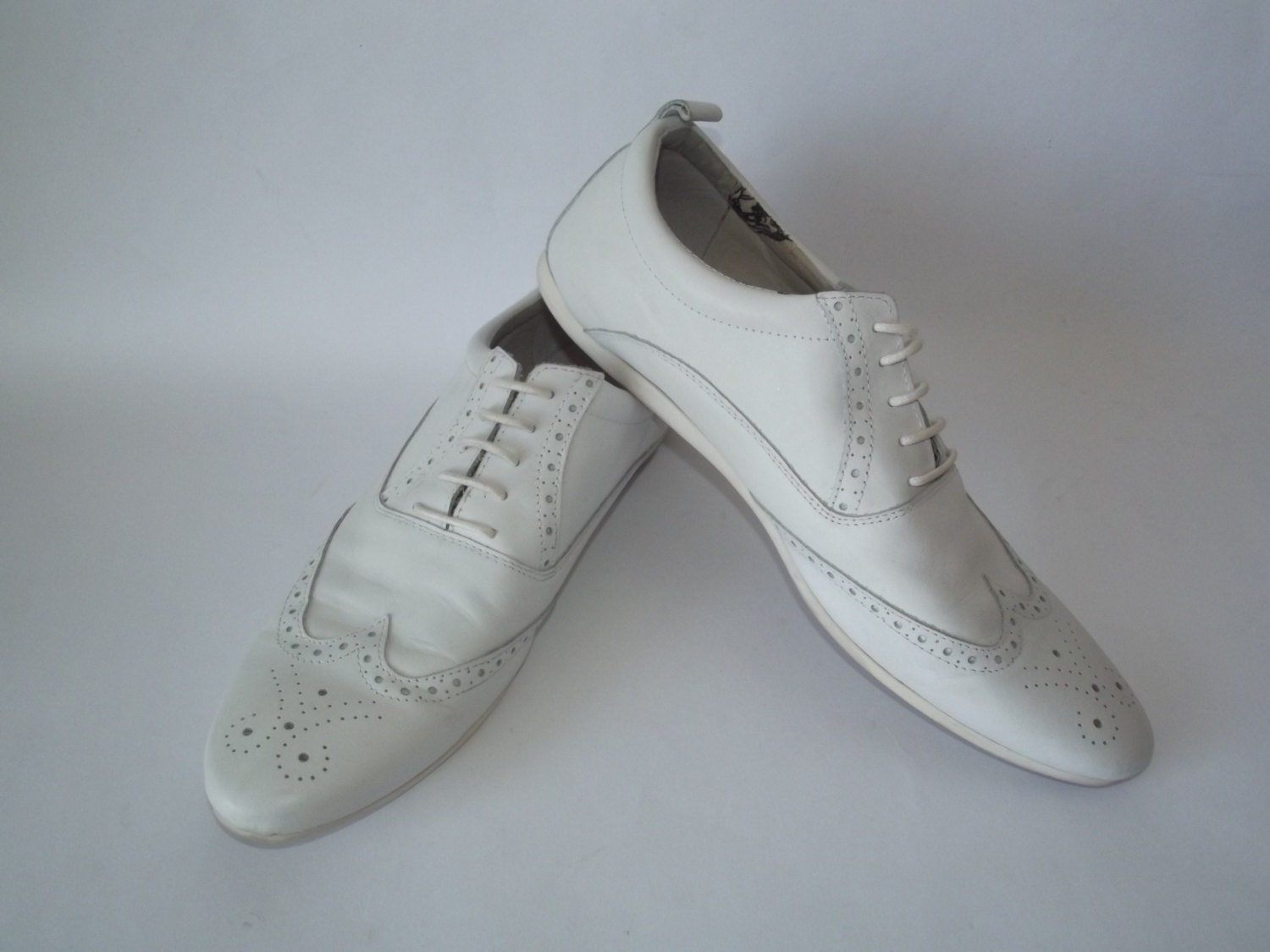 size 12 13 white brogue oxfords lace up shoes brogue