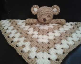 Teddy Bear Security Blanket Baby Lovey Comforter Blankie Lovie Crochet PATTERN