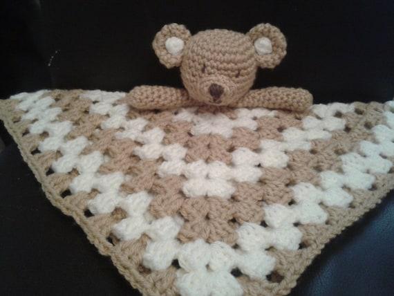 Teddy bear security blanket baby lovey comforter blankie lovie - Free teddy bear pics ...