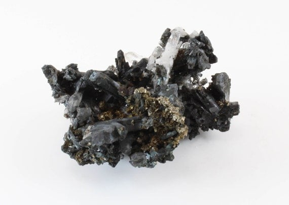 Cerussite with Quartz and Pyrite, M-969