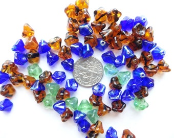Pretty Glass Flower Beads