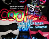 Light Up Mask LED Mask STG0 for Robot Costume Rave Wear Luminous Clothes Glow Outfit Edm Dance Wear Scifi Robot Mask Masquerade DJ Gig Party