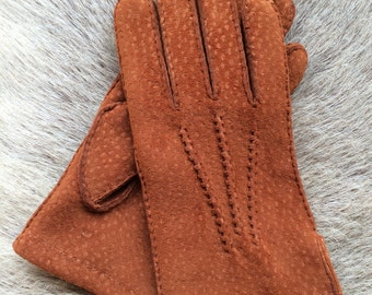 Men's Carpincho Leather Gloves Suede Gloves Fashion Leather Gloves Black Brown Beige Green Red
