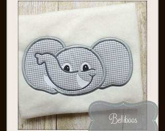 Elephant Applique Design - Elephant Embroidery Design - Zoo Applique Design - Mascot Applique Design - Applique Design - Animal Applique